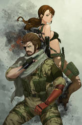 MGSV Bigboss n Quiet by Salmon88