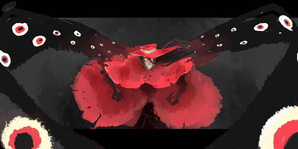 Daily Spintpaint 30 mn  :-Wings of eyes- by Gribouillonne