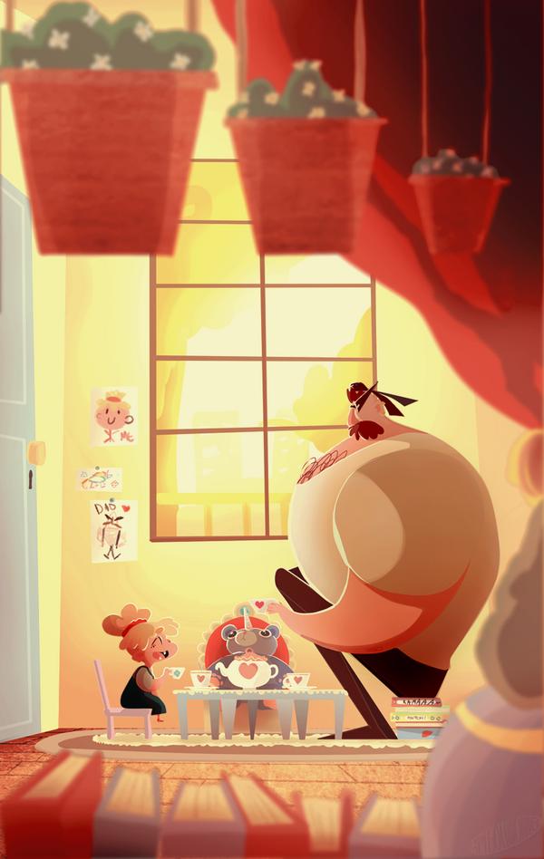 tea time by Gribouillonne