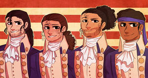 Hamilton Squad(REDRAW) by CaseyKeshui
