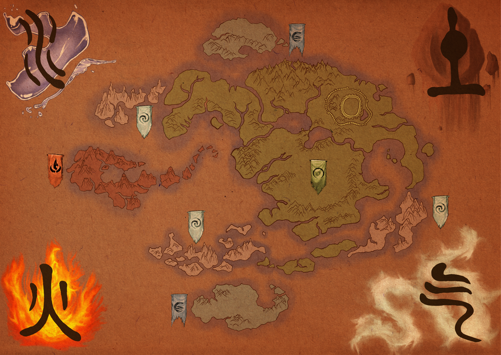 Avatar The Last Airbender Map By Tipsycakes