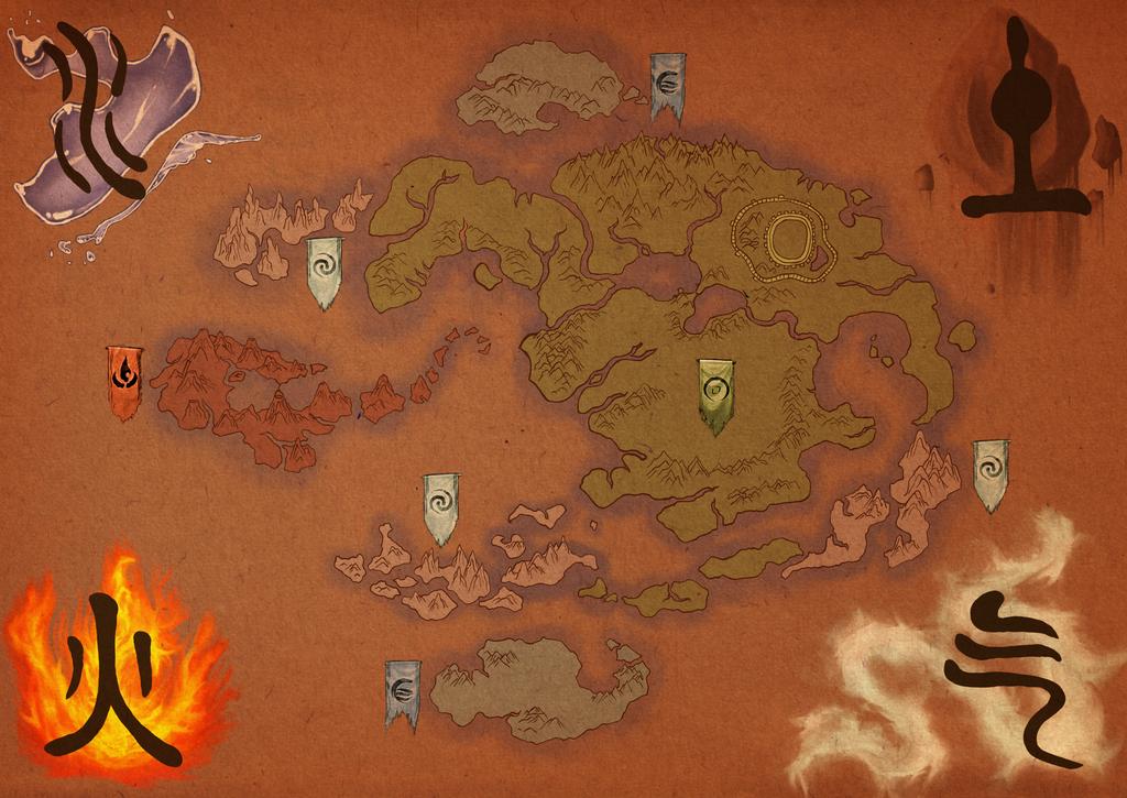 Avatar: the Last Airbender Map by tipsycakes on DeviantArt
