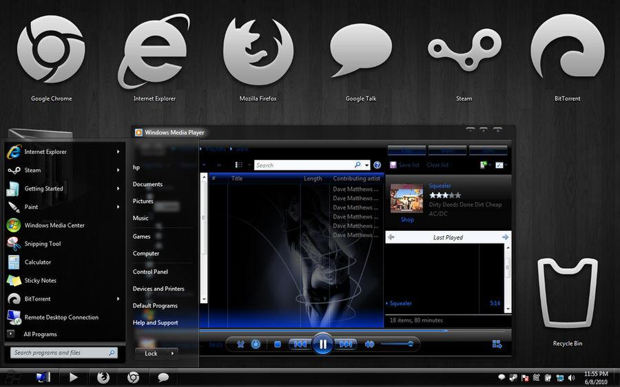 Windows 7 theme my theme by irahul