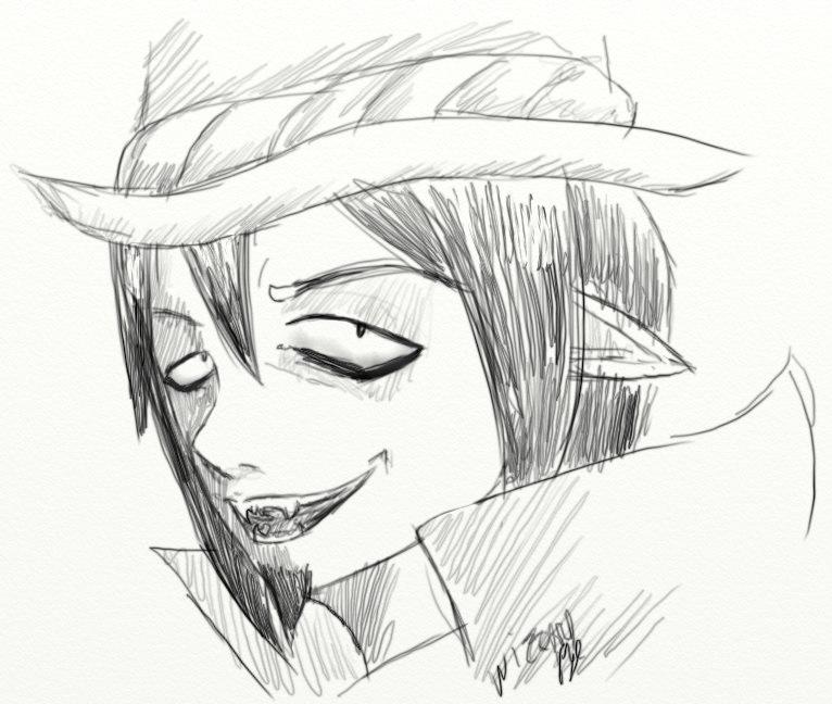 Sketch - Mephisto Pheles by WizzardFye