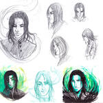 Doodle - Sevrus Snape by WizzardFye