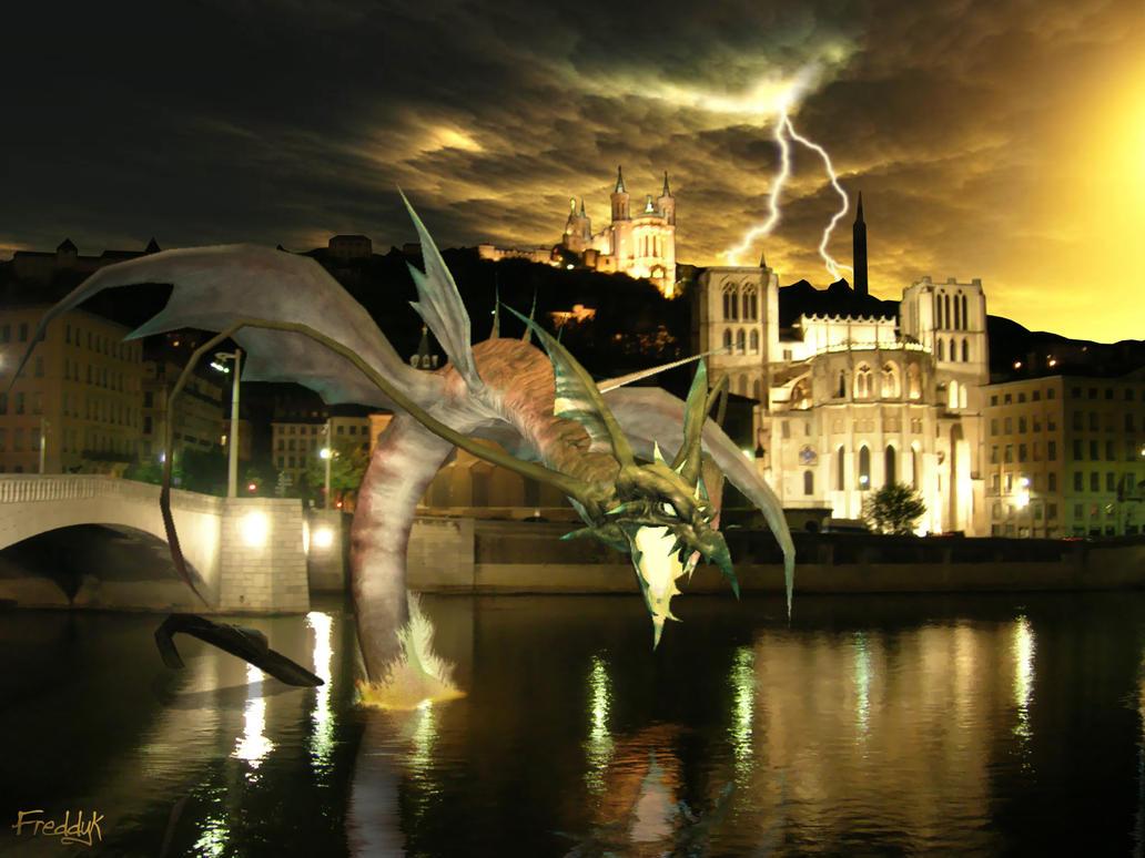 Le monstre de la Saone by fred-dyk