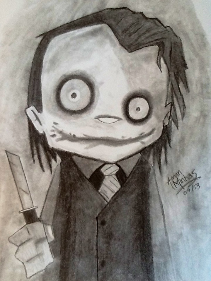 Creepy Joker by MoonProphecy