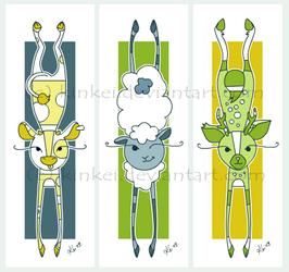Stretchy animal Bookmarks2 by kinkei