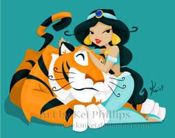 Jasmine and Rajah by kinkei