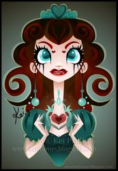 Queen of hearts by kinkei