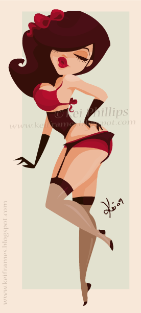 Tippy toes pin up by kinkei