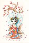 Watercolour Geisha