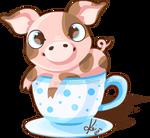tea cup pig