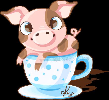 Tea cup pig by kinkei on deviantart - Pig wallpaper cartoon pig ...