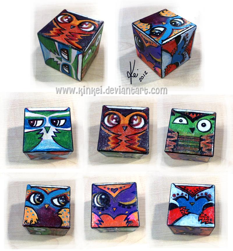 CUBE OF OWLS by kinkei