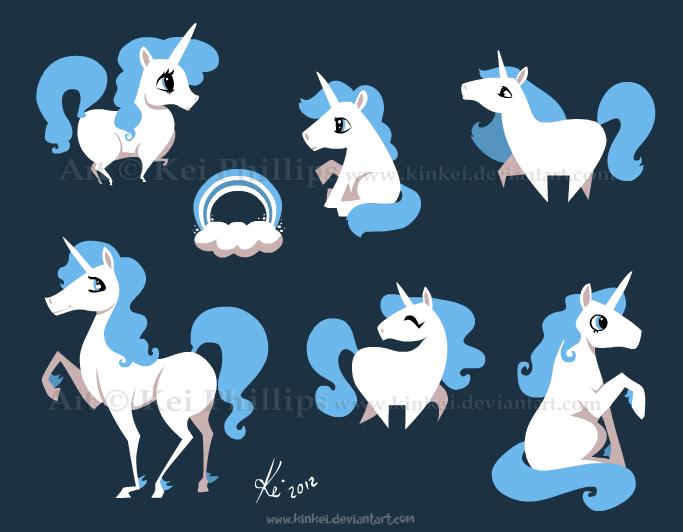 blue unicorns by kinkei