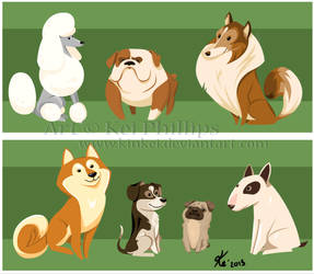 dogs by kinkei