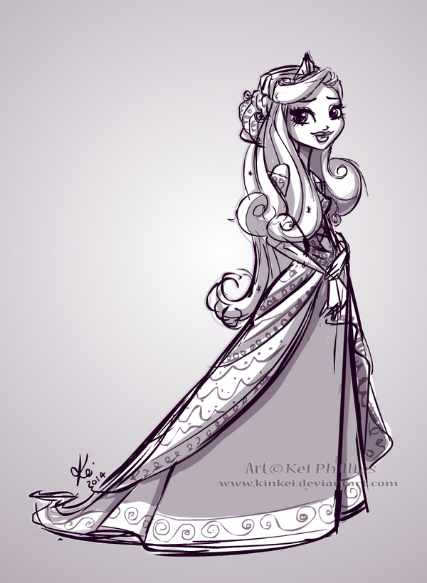 Princess Sketch by kinkei