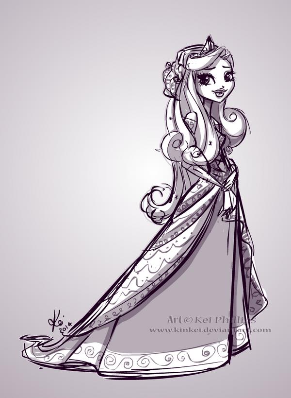 Princess Sketch by kinkei