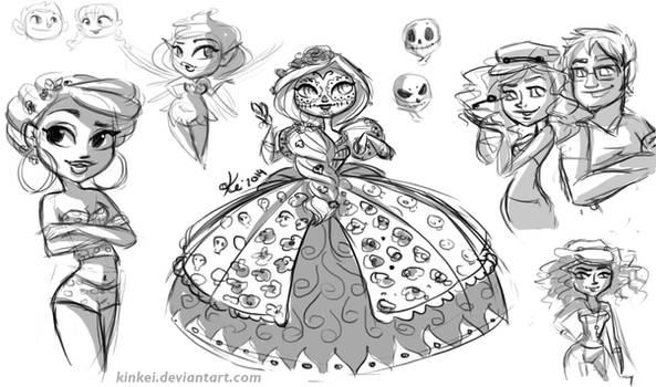 sketches by kinkei