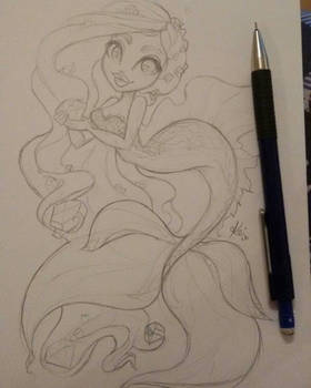 Diamond Mermaid sketch...