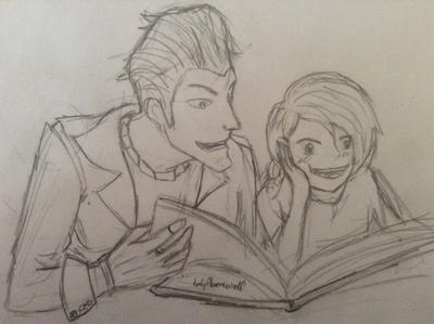 Handsome Jack and Kid Angel by holyflamewolf