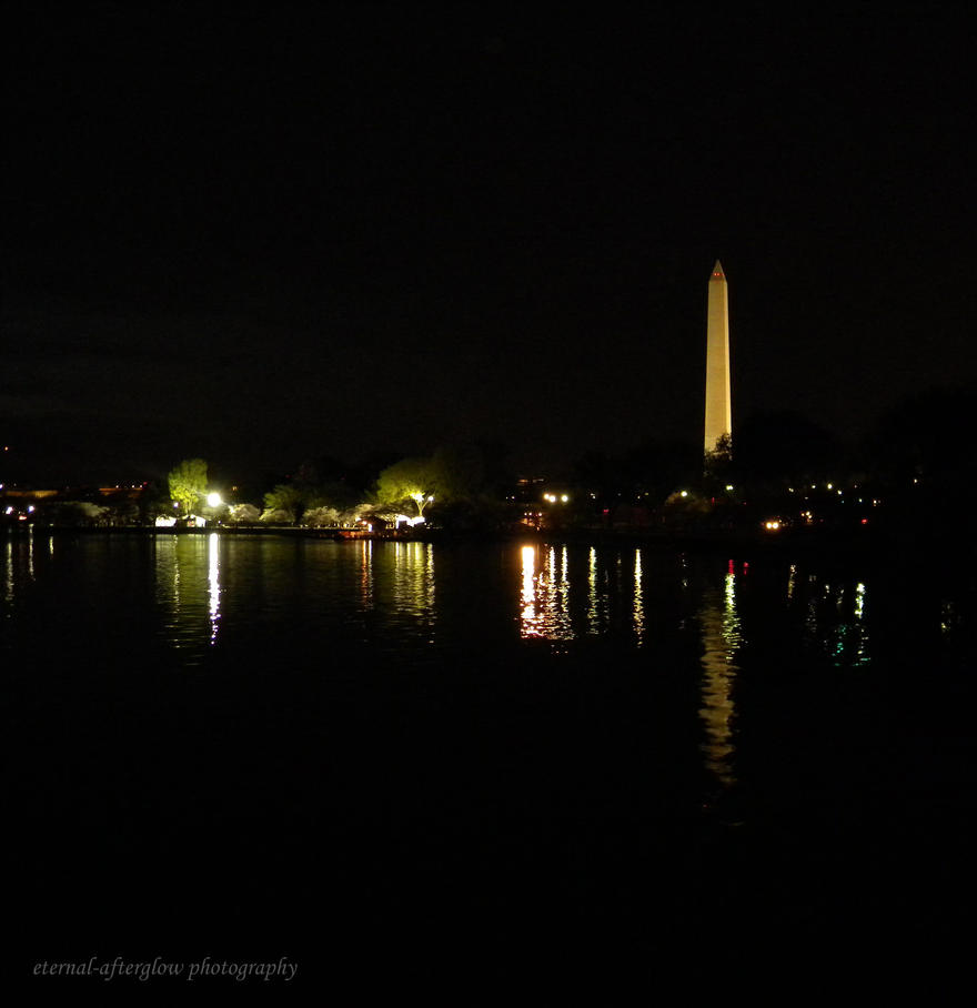 Washington Monument at Night by Eternal-Afterglow