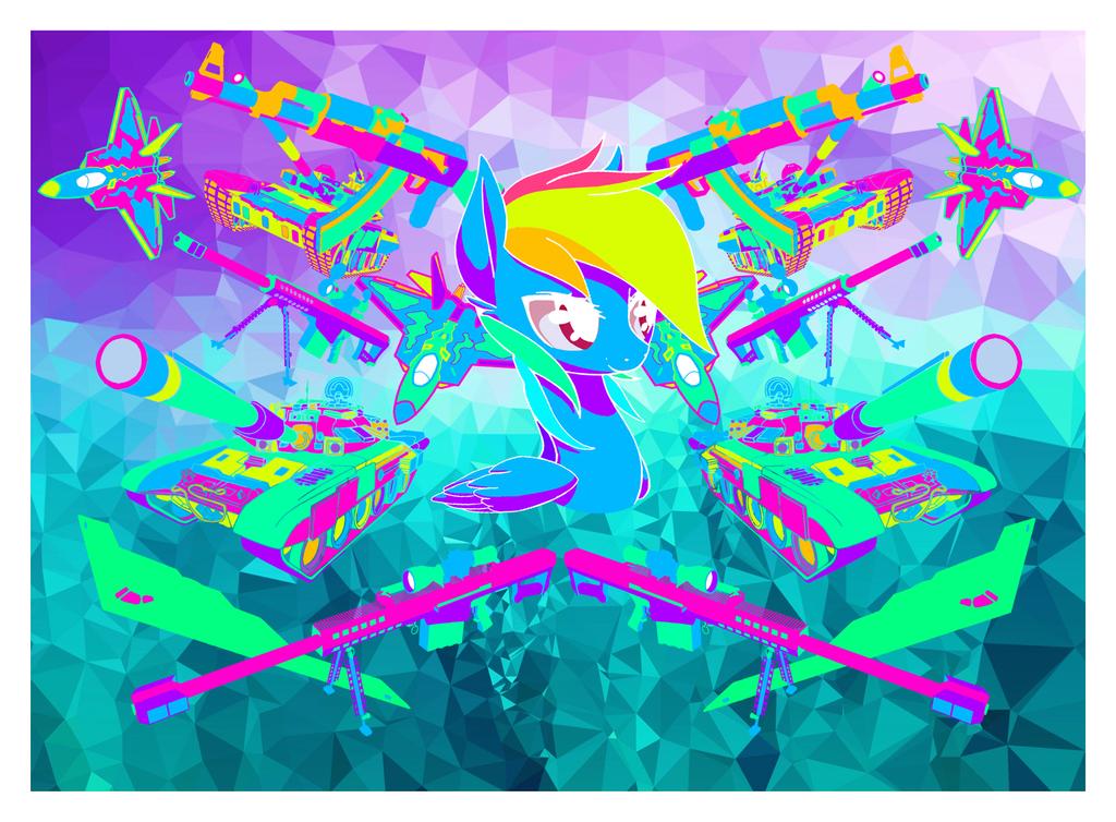 Raibow Dash Overload by Pow3rade