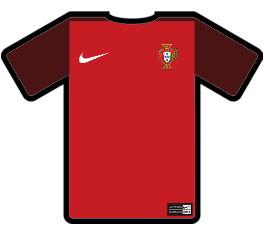 Tiny Shirt Design - Portugal Home Jersey by KamenRiderGenm