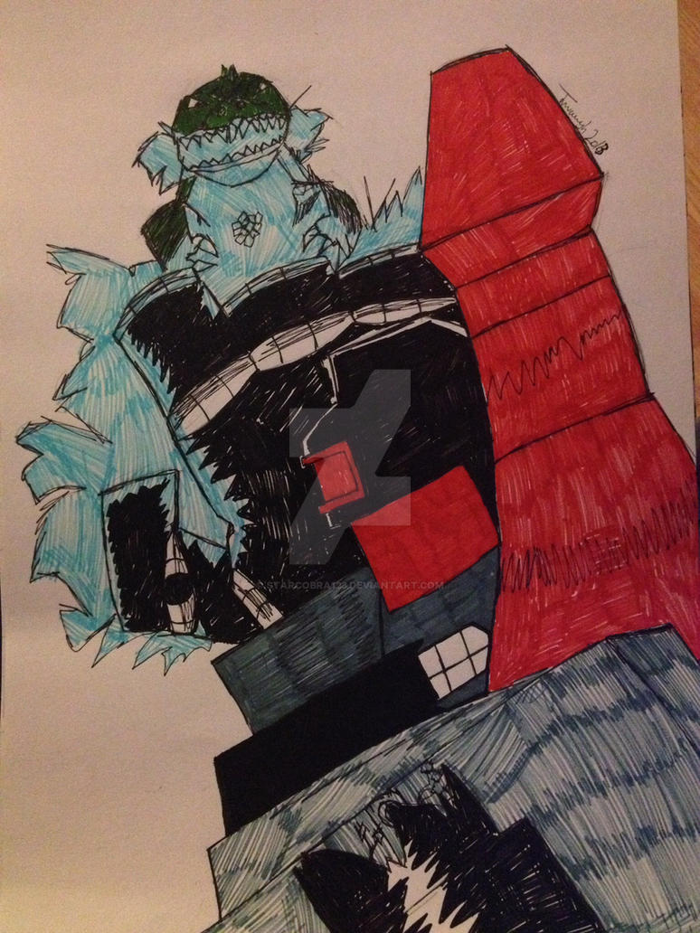 Metroplex Vs Godzilla by starcobra123