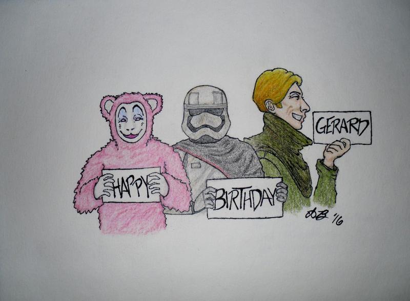 Happy Birthday, Gerard! 2016 by THEEPICARTIST8