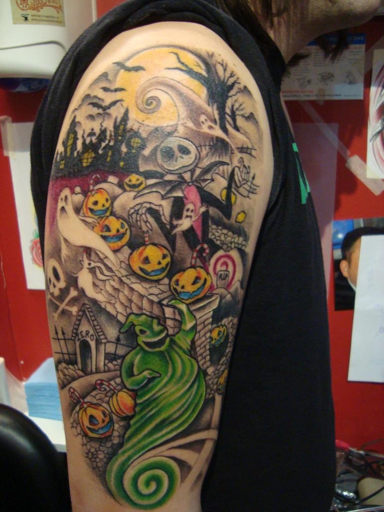Nightmare before christmas tattoo by Emerica86