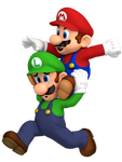 Mario And Luigi Superstar Saga Artwork Render