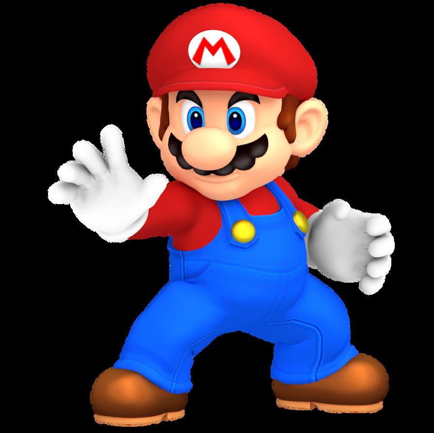 Mario Super Smash Bros Brawl Pose By Nintega Dario