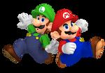 Mario And Luigi Superstar Saga Boxart Pose Render