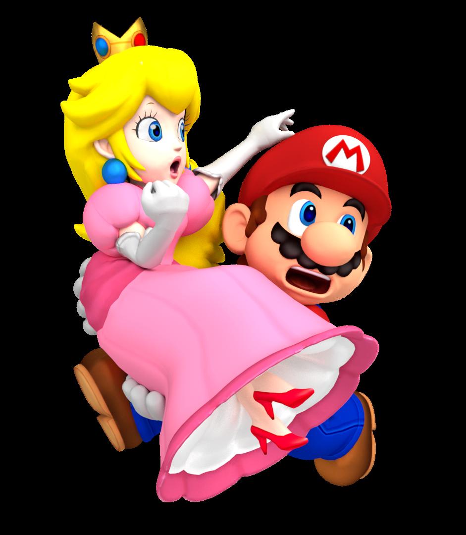 Mario carrying peach by nintega dario on deviantart - Princesse dans mario ...