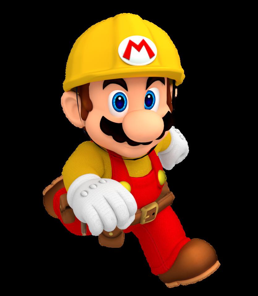 Builder Mario Render Super Mario Maker By Nintega Dario On Deviantart