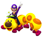 It's Wednesday! (Waluigi and Wiggler Render)
