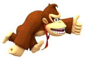 DK Run Thumbs Up Render by Nintega-Dario