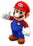 Odyssey Mario Thumb Up Render