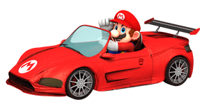 Mario Driving in Style