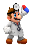Dr. Mario Holding a Pill Render