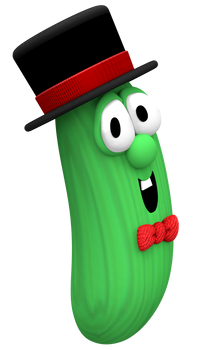 Larry the Cucumber in a Tophat Render
