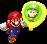 Mario Playing Luigi's Balloon World Render