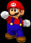 Mario Melee Classic Trophy Render