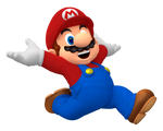 Mario Jumping with Excitement Render