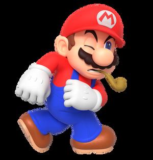 Mario Acting Like Popeye Render