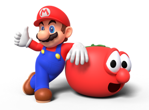 Mario and Bob the Tomato Render