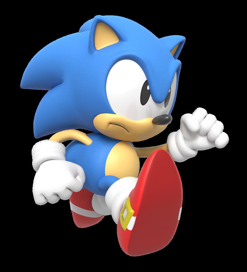Classic Sonic Running Render By Nintega-Dario On DeviantArt