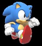 Classic Sonic Running Render